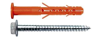 MBRK-STB Дюбель фасадный с бортиком со стопорным шурупом с пресс-шайбой HEX+T40
