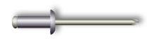 Заклепка вытяжная, стандартный бортик (алюминий/сталь)