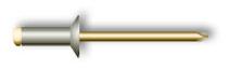 Заклепка вытяжная, потайной бортик (стальная)