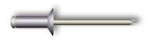 Заклепка вытяжная, потайной бортик (алюминий/сталь)