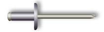 Заклепка вытяжная, широкий бортик (алюминий/сталь)