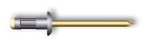 Заклепка вытяжная, многозажимная, стандартный бортик (алюминий/сталь)
