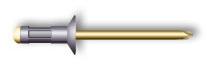 Заклепка вытяжная, многозажимная, потайной бортик (алюминий/сталь)