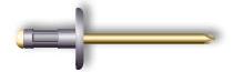 Заклепка вытяжная, многозажимная, широкий бортик (алюминий/сталь)