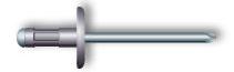 Заклепка вытяжная, многозажимная, широкий бортик (алюминий/нержавеющая сталь)