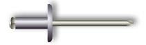 Заклепка вытяжная, лепестковая, широкий бортик (алюминий/сталь)