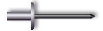 Заклепка вытяжная, закрытая, широкий бортик (алюминий/сталь)
