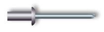 Заклепка вытяжная, закрытая, стандартный бортик (алюминий/нержавеющая сталь)