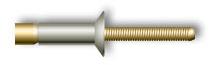 Заклепка вытяжная, усиленная, потайной бортик (стальная)