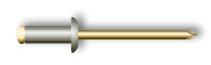 Заклепка вытяжная, стандартный бортик (стальная)