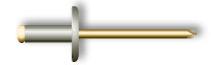 Заклепка вытяжная, широкий бортик (стальная)