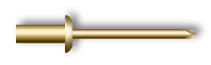 Заклепка вытяжная, закрытая, стандартный бортик (стальная)