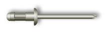 Заклепка вытяжная, стандартный бортик, многозажимная (стальная)