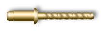 Заклепка вытяжная, стандартный бортик, для тонких материалов (стальная)