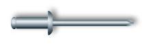 Заклепка вытяжная, стандартный бортик (нержавеющая сталь А2)