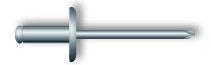 Заклепка вытяжная, широкий бортик (нержавеющая сталь А2)