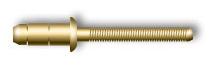 Заклепка вытяжная, стандартный бортик, для мягких материалов (стальная)