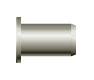 Заклепка резьбовая, цилиндрический бортик (стальная)