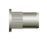 Заклепка резьбовая с насечкой, цилиндрический бортик (стальная)