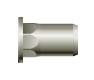 Заклепка резьбовая, шестигранная 1/2, цилиндрический бортик (стальная)