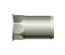 Заклепка резьбовая, шестигранная 1/2, уменьшенный бортик (стальная)