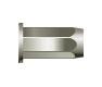 Заклепка резьбовая шестигранная, глухая, цилиндрический бортик (стальная)