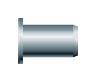 Заклепка резьбовая, цилиндрический бортик (нержавеющая сталь)