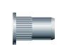 Заклепка резьбовая с насечкой, цилиндрический бортик (нержавеющая сталь)